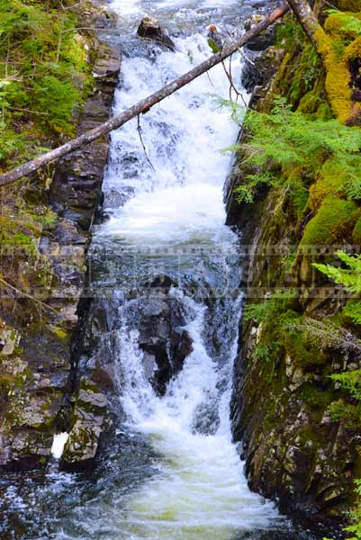 Symbolism of waterfall and rocks, water images