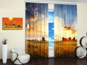 curtain print Beautiful landscapes digital prints on fabric