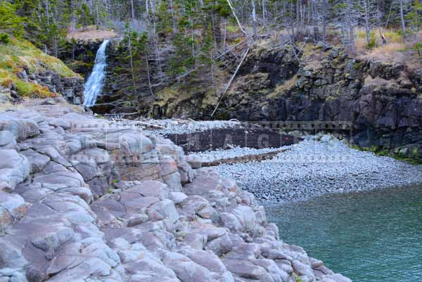 Beautiful waterfall at Delaps Cove, travel images