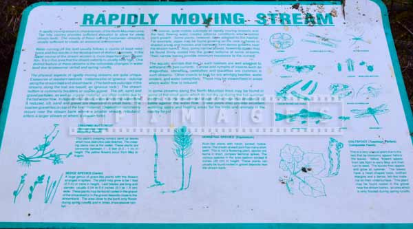 Description of streams, Nova Scotia hiking trails