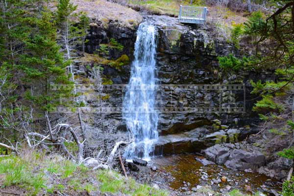 Nova Scotia waterfall picture Bohaker Cove at Delaps Cove hiking trail