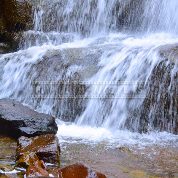 Conceptual abstrac images - water images showing static rocks and falling water