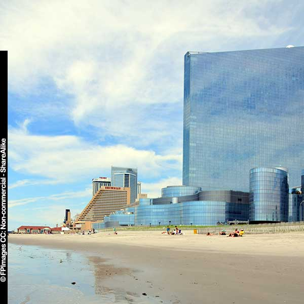 beach view of Revel in AC, travel images free image