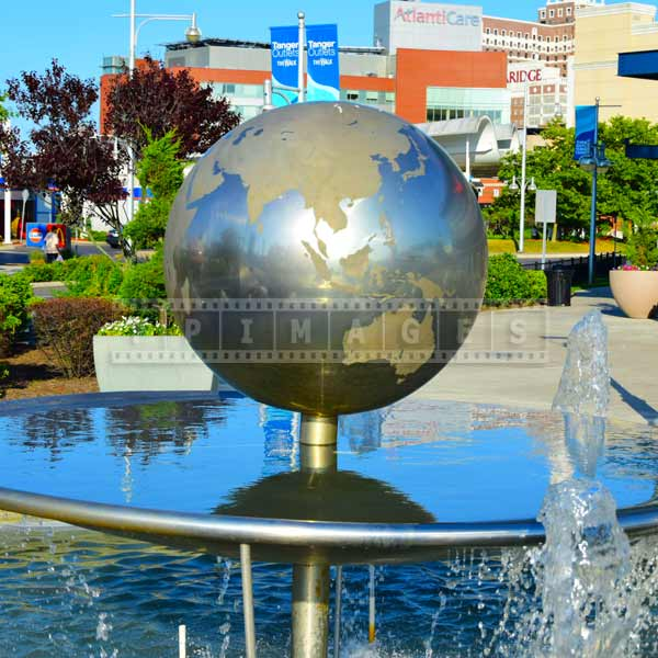 Christopher Columbus boulevard globe fountain