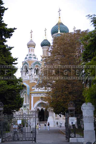 Russian orthodox cathedral in Nice France, travel images