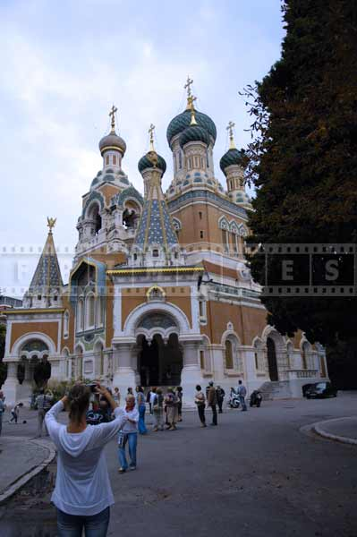 Famous landmarks of Nice - St. Nicholas Russian Orthodox Cathedral