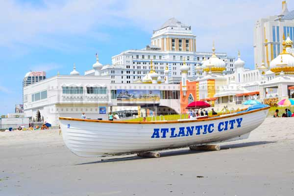 Atlantic City beach lifeboat