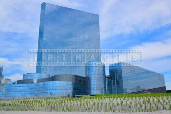 atlantic city beach Revel hotel and sand dunes