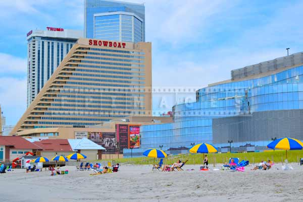 Beach pictures near Revel, Showboat casinos