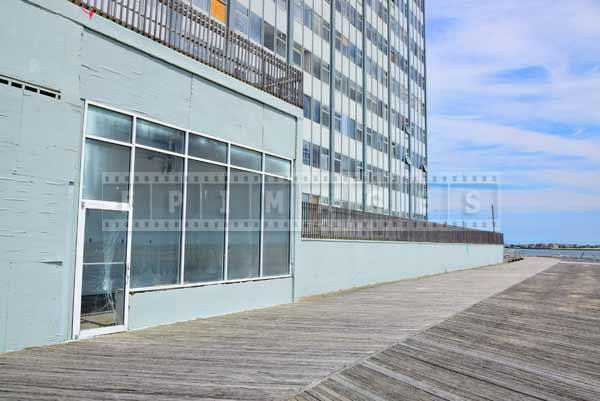 atlantic city boardwalk damage and abandoned hotel