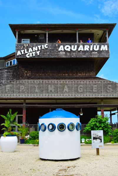 aquarium building and diving bell