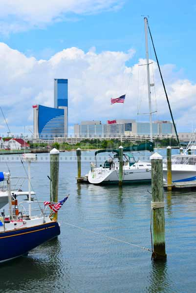 atlantic city cityscapes gardners basin marina