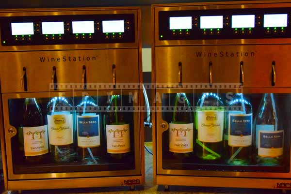 wine station at Caesars, food pictures