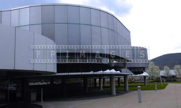 Corning cityscapes - architecture of museum of glass