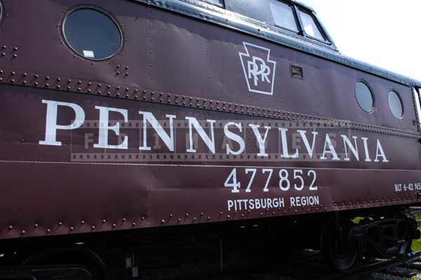 Old Pennsylvania railroad caboose on display, off the beaten path road trip