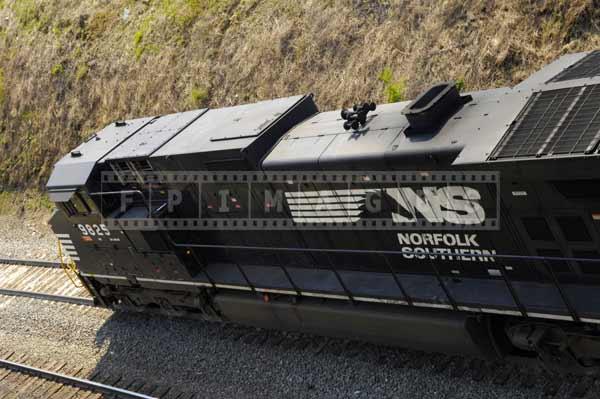 Black locomotive of NS railway