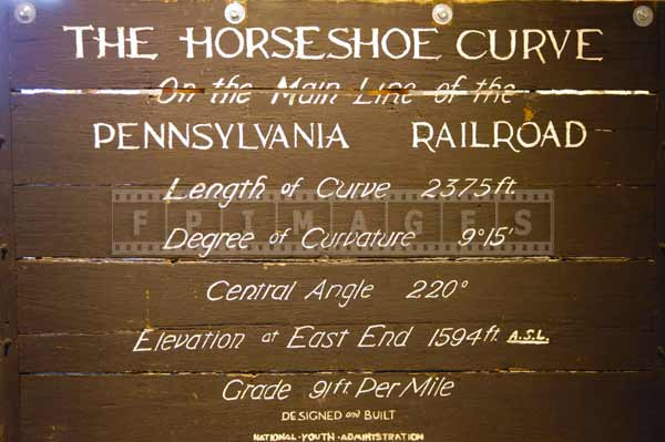 horseshoe curve pennsylvania industrial attractions, famous landmarks sign