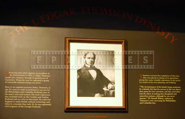 Engineer John Edgar Thomson, museum photo