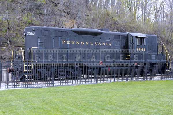 Pennsylvania railroad historic train, industrial images