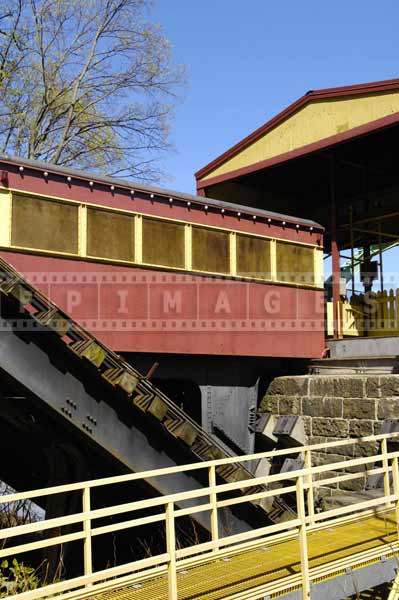 johnstown inclined plane travel images Funicular vehicle parked at the bottom station