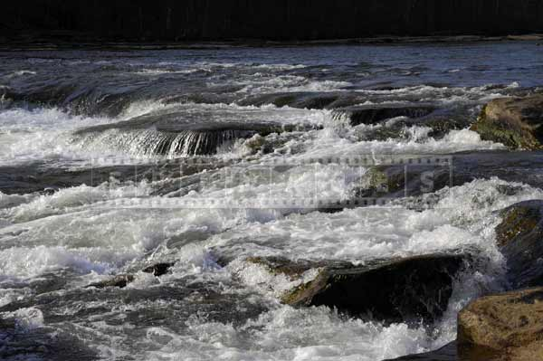 River white rapids in the spring, water images