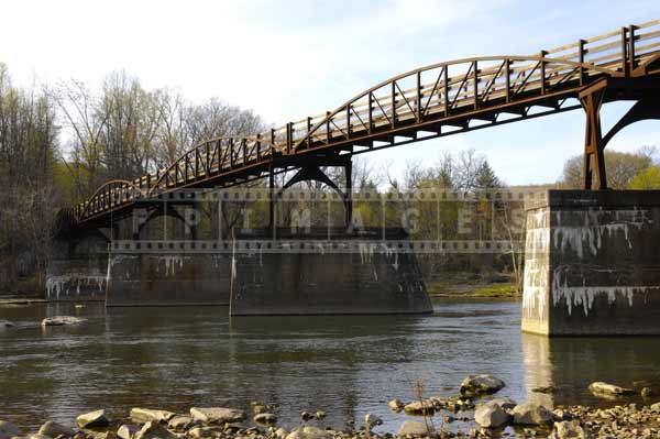 Old railway brdige spanning Youghiogheny River