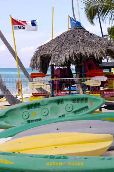 Water sports gear, Dominican republic beach pictures