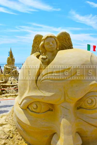 Sand Sculptures at atlantic city, New Jersey beach