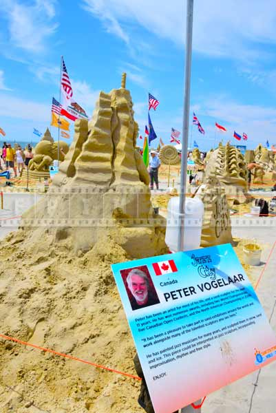 Artist information display at DO AC sand castle competiton