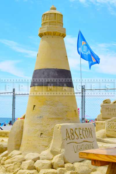 Absecon Lighthouse made from sand