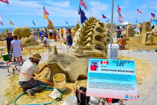 one of the winners of DO AC sand castle competition - Canadian artist Jonathan Bouchard
