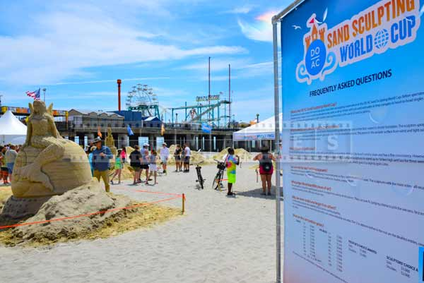 sand castle competition at steel pier, AC New Jersey