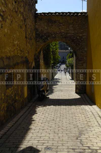 Canadel gate - great example of medieval streets, travel images