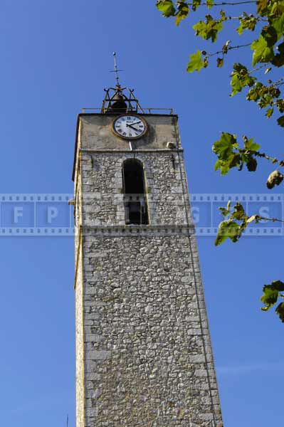 Town's landmark - bell tower, provence travel images