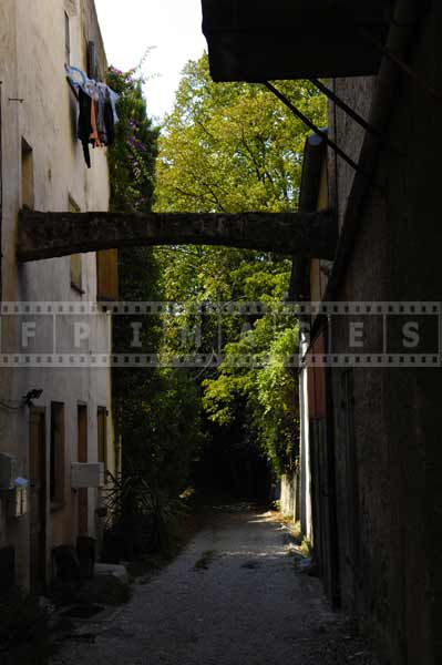 south france european cityscapes - narrow street in the shade