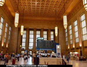 Large Hall Interior at Philadelphia train station, pictures of buildings