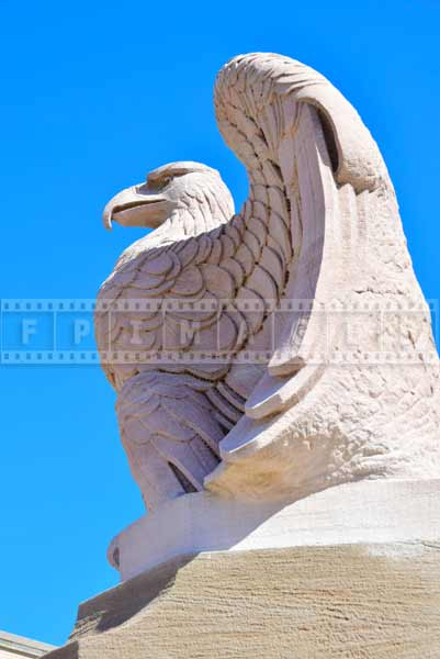 Deatil of eagle sculpture at Schuykill river bridge, Philadelphia, Pennsylvania, New Jersey