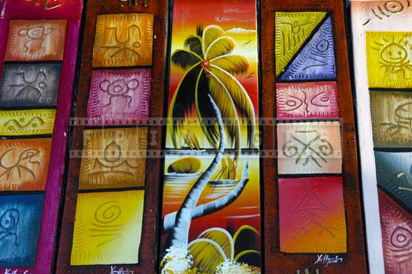 dominican republic caribbean gift ideas  - bright paintings