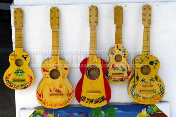 Caribbean travel images - guitars for sale at the market