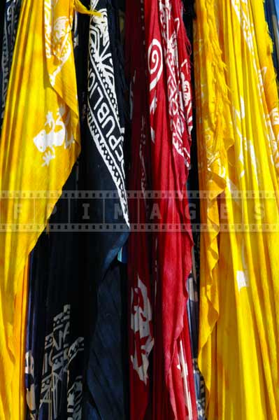 Yellow, red and navy blue clothing, tropical gift ideas
