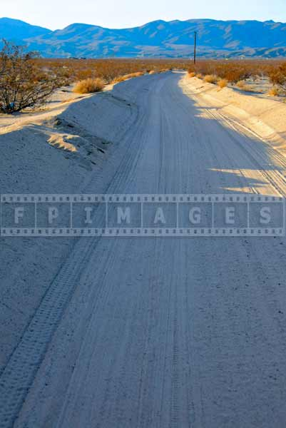 twentynine palms dirt road, travel images