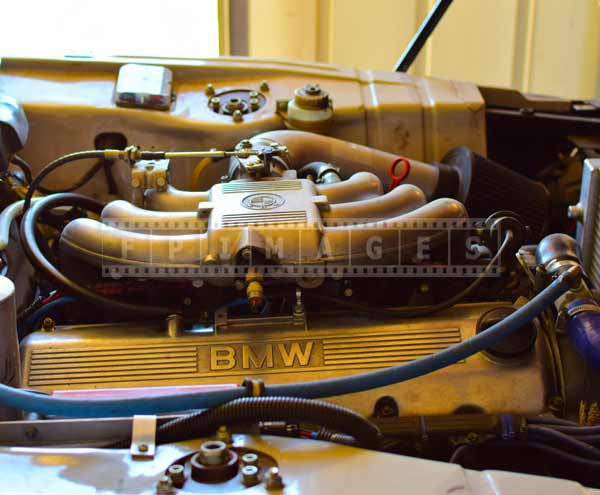 BMW 2002 with 6-cylinder engine, industrial pictures