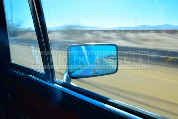 Rear view mirror and blurred background