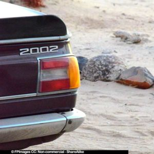 BMW 2002 car images, free image of a rear of a car