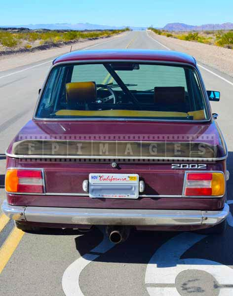 Historic route 66 and BMW 2002, car images