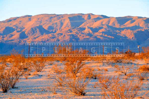 Mountains and desert landscape at sunrise, travel images