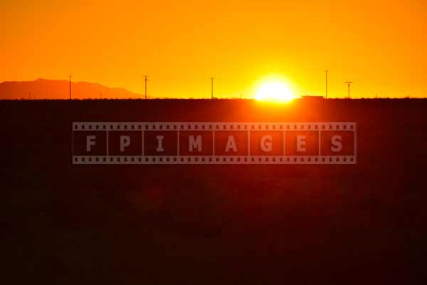 Sun rising above Mojave desert, travel images