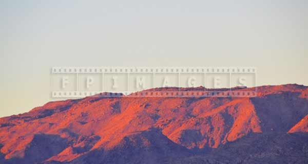 Desert mountains at sunrise show amazing texture and color, nature pictures