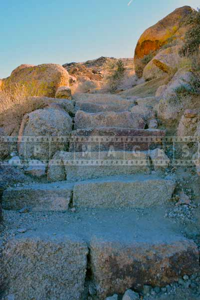 Stone steps climbing further uphill, hiking travel images