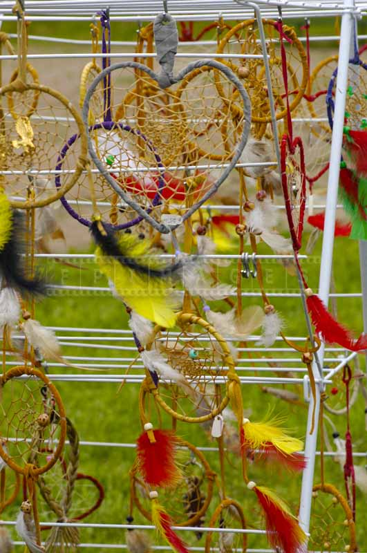 Powow souvenirs for sale - native indians dream catchers